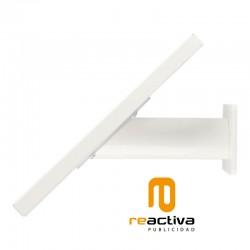 Soporte universal metálico para tablet de sobremesa y pared en color blanco